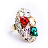 Free shipping Retail Fashion austrian crystal ring finger ring fashion jewelry