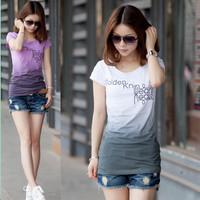 Mushroom plus size clothing loose t-shirt white Women short-sleeve female basic t-shirt short-sleeve