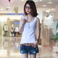 2013 women's spaghetti strap vest female basic shirt female summer tank