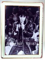 30*40CM USA Culture Icons Pub Decor Elvis Aron Presley Star Poster  Singer King Concert Rock Music Wall Decor Bar Sign