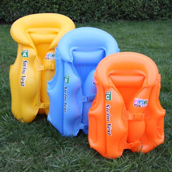 free shipping,Inflatable swimwear second generation child life vest swimming vest inflatable swim ring(China (Mainland))