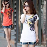 Plus size clothing 2013 summer loose t-shirt female summer short-sleeve clothes short-sleeve t-shirt female
