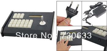 Rotating Knob CCTV Camera PTZ Keyboard Controller w Adapter