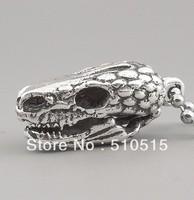 Lizard Skull Dinosaur Pendant Necklace