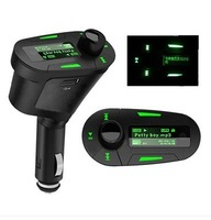 Green Vehicle Car Kit MP3 Player Wireless FM Transmitter Modulator Free Shipping