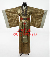 Male costume tang suit hanfu costume stage clothing large