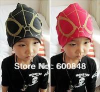 kids fashion Spider-man beanies knitted hat children's head wear girls Accessory cap 3-6ages bc55