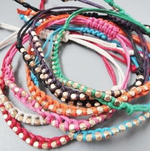 Free shipping!24pcs/lot promotional big brand classic lucky fabric cord braided Friendship bracelet shamballa jewelry