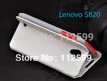 Leather Case for Lenovo S820 leather Cover Skin +Free Ship!