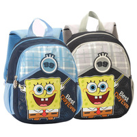 Freeshipping - Small SpongeBob School Children Backpack, Student School Bag, Kids School Book Bag, School Backpack SB1009