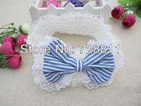 FREE SHIPPING   1pcs baby girl plaid bowknot headband/children lace hair band/infant headwear/girl hair accessories