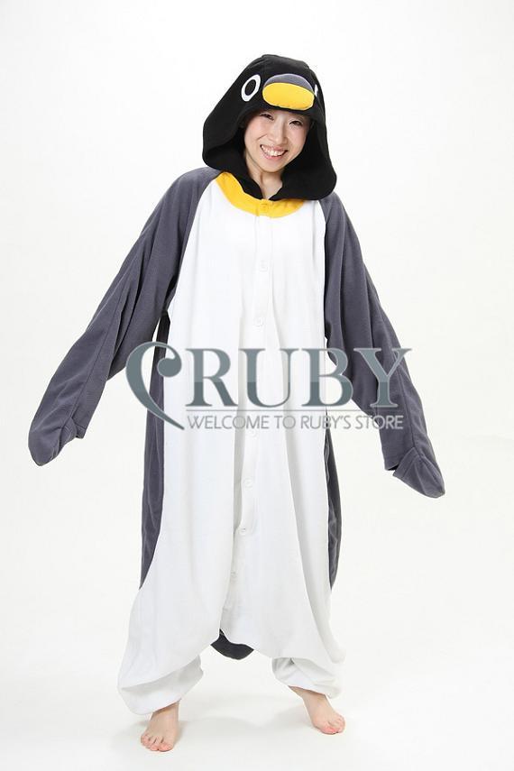 kigurumi пижамы все в одной пижаме животных костюмы косплей костюмы  взрослых унисекс одежды милый серый Пингвин 8d6526deb7639
