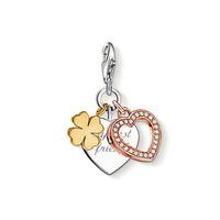 Free shipping Hollow rose gold clover tsk - ts charm ts charm pendant fashion pendant