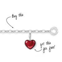 Free shipping Red heart bracelet fashion ts - charm fashion jewelry