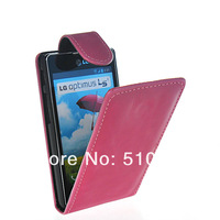 Wholesale or Retail FLIP POUCH STYLE LEATHER CASE COVER FOR LG Optimus L5 II E455  FREE SHIPPING