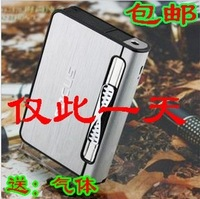 Belt lighter automatic smoke metal cigarette case 10 ultra-thin windproof