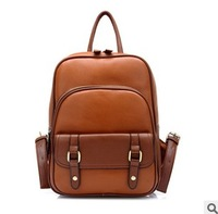 Preppy style PU leather rucksack; children zipper backpack; school bag;designed women knapsack,the retro fashion women backpacks