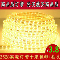 Bright 220v 3528 led smd with lights neon led strip light 60 light beads waterproof