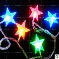 Pentastar small led colorful lights flasher lamp set ed lighting string decoration mantianxing decoration lamp dangxiang festive