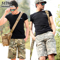 51783 men's summer clothing Camouflage shorts male loose casual frock military multi-pocket shorts