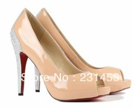 Drop shipping, hot sell pumps, Fashion ladies , double water table high heel shoes ,Daffy Daffodil Platform Pumps wedding shoes