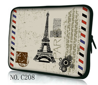"13"" Paris Laptop Sleeve Case Bag Pouch For 13.3"" Dell XPS /HP Folio/ Macbook Pro"