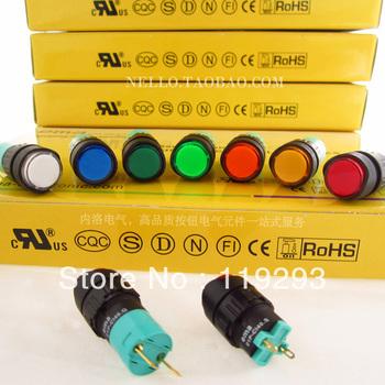 [ BELLA]Imports EMA 16mm LED 01P-CI40.Q / S Round LED AC110/220V--10PCS/LOT