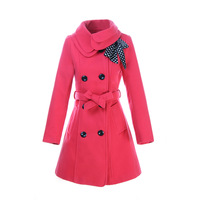 2013 autumn and winter wool with belt cashmere the woman's coat,women's winter clothing,trench coat for women,the female jackets