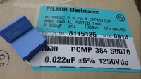 PILKOR 0.022uf/1250v (22nf 22000pf 223) MKP new film capacitors