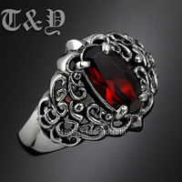 T & y silver pure silver 925 ring stone ring scripture thai silver male ring