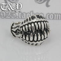 T & y silver pure silver 925 ring thai silver male ring