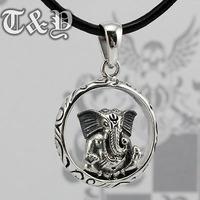 T & y silver pure silver 925 pendant elephant god thai silver pendant ganesha