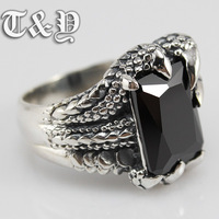 T & y silver pure silver 925 ring alondra gem thai silver male ring