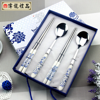 Blue and white porcelain dinnerware set chinese style unique gift practical gifts the best gifts for your lovers