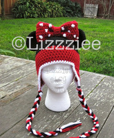 free shipping,Baby Crochet Mickey OR Minnie hat Beanies Photo Photography Prop Newborn Costume Hat