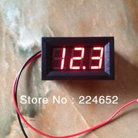 """6V/12V Battery Dedicated 0.56"""" Digital Voltmeter 2 Line DC3.2-30V Car Motor Voltage Panel Meter Red LED"""