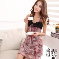 2013 women's fashion lace suspender skirt sexy sleepwear spaghetti strap temptation lounge nightgown