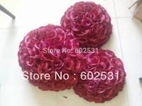25cm DARK RED pomander kissing ball,wedding flower,celebration decoration flower ball