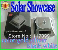 Solar Dry Battery Powered Display Cosmic Wheel Solar Wheel Solar Showcase black silver gold white