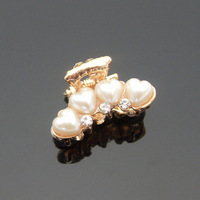 Promotion! Wholesale!  Fashion lady women jewelry hair accessory beautiful simulated-pearl heart small hair claws SHR132