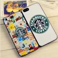 1 piece free shipping Starbucks coffee phone case for iphone 5 5G protective case for apple 5