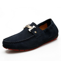 Men's low-top shoes suede shoes leather shoes gommini loafers light solid color jpw007