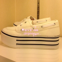 Women's shoes whisen platform 5cm lacing women's canvas casual shoes