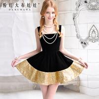 Free shipping Pink Doll Brand 2013 xiangpin sleeveless expansion bottom puff dress