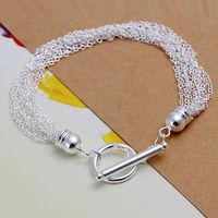 Free Shipping Wholesale 925 silver bracelet, 925 silver fashion jewelry, 925 silver ten lines Bracelet H251