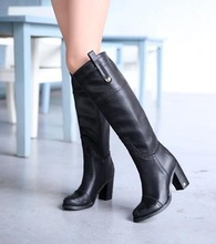 Plus size 35-43 2013 new arrive leather sexy ladies winter long boots for women,high heel shoes,fashion  knee boots,Top quality!(China (Mainland))