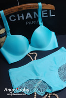 Drop Shipping New arrival push up mint green small fresh a piece seamless thickening deep V-neck 70b75b80b push up bra