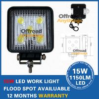 "HOT!!!Free shipping!!4"" 15W 1150LM Brightness 5pcs*230W/pcs,high power LED working light truck lamp!!super good quality!"