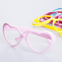 E24 heart peach heart glasses frame love non-mainstream eye frame decoration female ultralarge