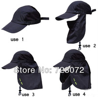 Free ship Wholesale 14pcs/lot Mesh Bucket Outback Boonie Bush Jungle Safari Flap Ears Neck Hat 360 degrees prevented bask in cap